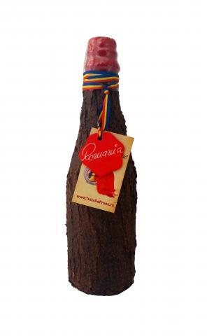 Cilindru scoarta de copac 350 ml cu rachiu de fructe