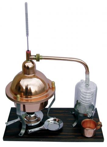 Distilator din cupru, cu termometru, capacitate 1L
