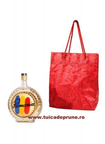 Plosca Romania in Saculet Rosu