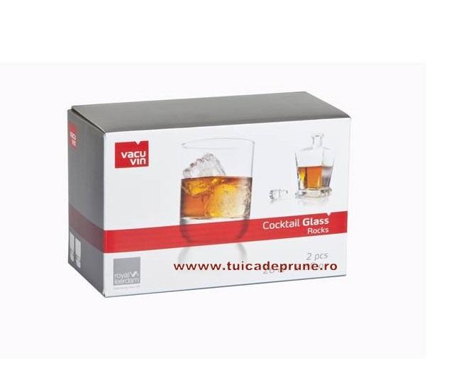 Set 2 pahare whisky VacuVin