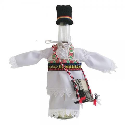 Sticla imbracata traditional el 350 ml rachiu fructe